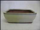 Bonsai Pot, Rectangle (NL), 15cm, Cream, Glazed